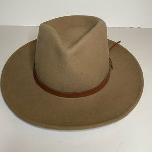 Accessories - Hobo style wide rimmed tan hat